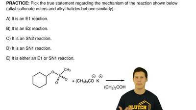 Pick the true statement regarding the mechanism of the reaction shown below (a...