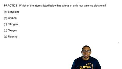 Which of the atoms listed below has a total of only four valence electrons?  (...