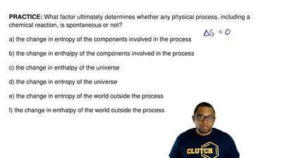 What factor ultimately determines whether any physical process, including a ch...