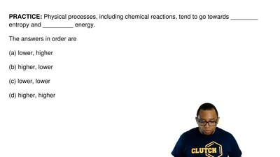 Physical processes, including chemical reactions, tend to go towards ________ ...