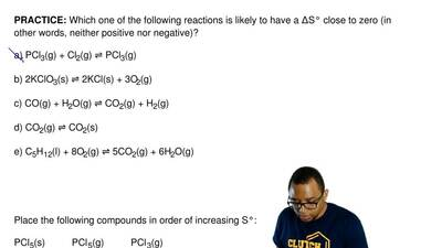 Which one of the following reactions is likely to have aΔS° close to zero (in...
