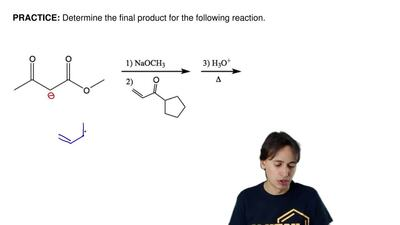 Determine the final product for the following reaction.      ...