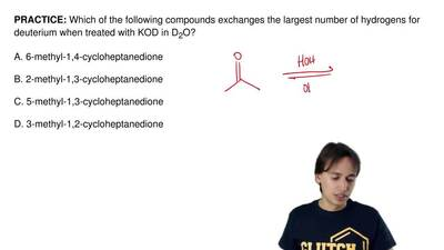 Which of the following compounds exchanges the largest number of hydrogensfor...
