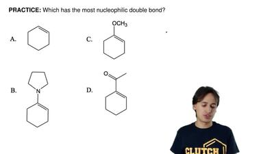 Which has the most nucleophilic double bond? ...