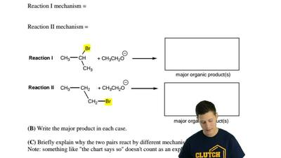 Specify the mechanisms by which the following pairs of compounds will most lik...