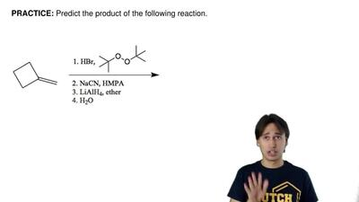 Predict the product of the following reaction.    ...