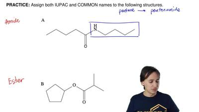 Assign both IUPAC and COMMON names to the following structures. ...