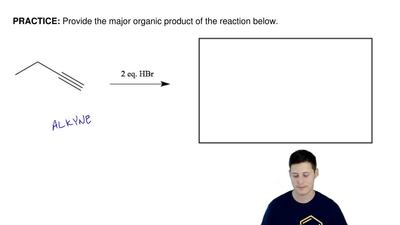 Provide the major organic product of the reaction below.  ...