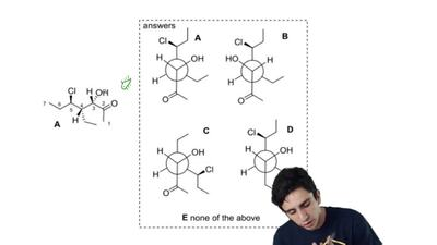 Find the correct Newman projection of Molecule A from C3 to C4.    ...