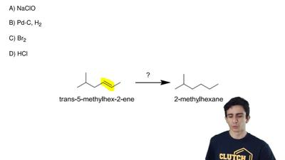 In the conversion of  trans-5-methyl-2-hexene to 2-methylhexane given below, w...