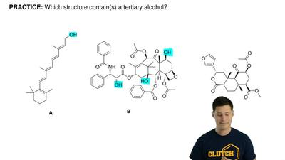 Which structure contain(s) a tertiary alcohol? ...
