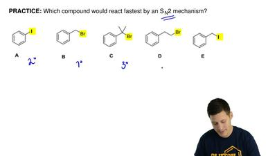 Which compound would react fastest by an SN2 mechanism? ...