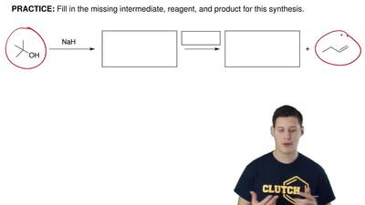 Fill in the missing intermediate, reagent, and product for this synthesis. ...