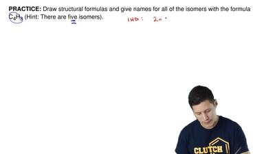 Draw structural formulas and give names for all of the isomers with the formul...