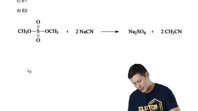 The mechanism of the following reaction is  a) SN1  b) SN2  c) E1  d) E2 ...