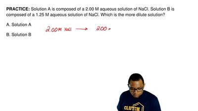 Solution A is composed of a 2.00 M aqueous solution of NaCl. Solution B is com...