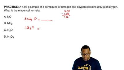 A 4.08 g sample of a compound of nitrogen and oxygen contains 3.02 g of oxygen...