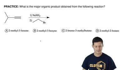 What is the major organic product obtained from the following reaction? ...