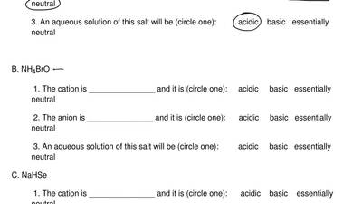 Analyze the following salts with respect to their acid-base chemistry as direc...