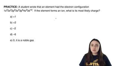 A student wrote that an element had the electron configuration 1s22s22p63s23p6...