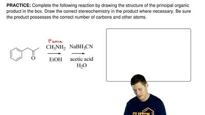 Complete the following reaction by drawing the structure of the principal orga...