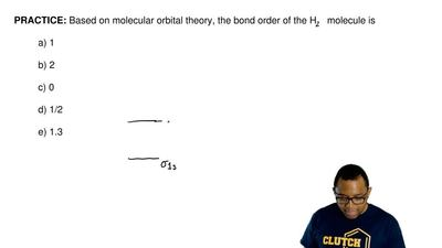 Based on molecular orbital theory, what is the bond order of the H 2 molecule?...