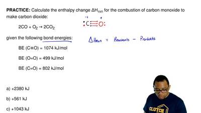 Calculate the enthalpy change ΔH rxn for the combustion of carbon monoxide to ...