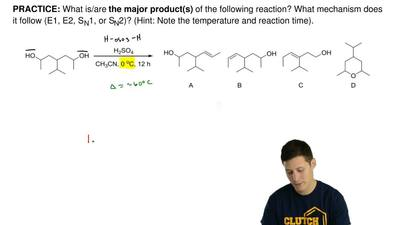 What is/are the major product(s) of the following reaction? What mechanism doe...