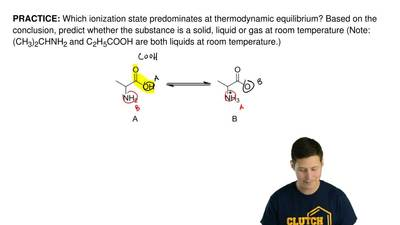 Which ionization state predominates at thermodynamic equilibrium? Based on the...