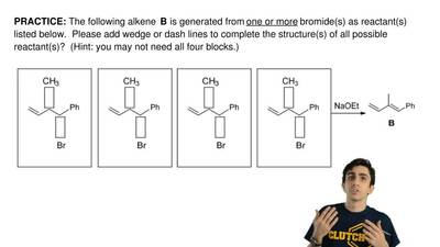 The following alkene  B is generated from one or more bromide(s) as reactant(s...
