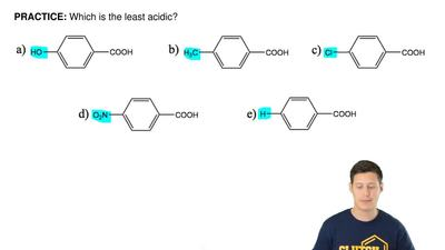 Which is the least acidic?  ...