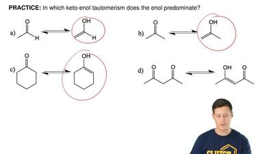 In which keto-enol tautomerism does the enol predominate? ...