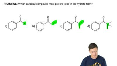 Which carbonyl compound most prefers to be in the hydrate form?   ...