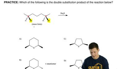 Which of the following is the double substitution product of the reaction belo...