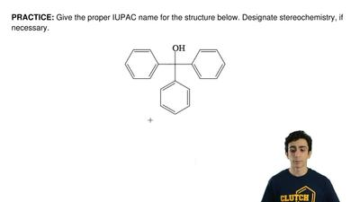 Give the proper IUPAC name for the structure below. Designate stereochemistry,...
