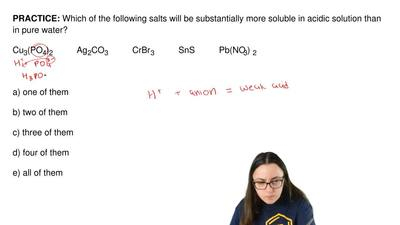 Which of the following salts will be substantially more soluble in acidic solu...