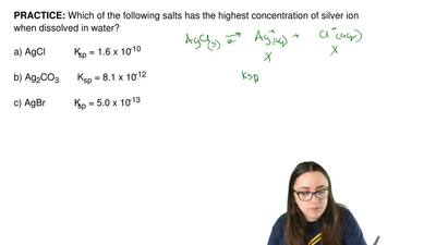 Which of the following salts has the highest concentration of silver ion when ...