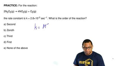 For the reaction:  2N2O5(g) → 4NO2(g) + O2(g)  the rate constant is k = 2.8×10...