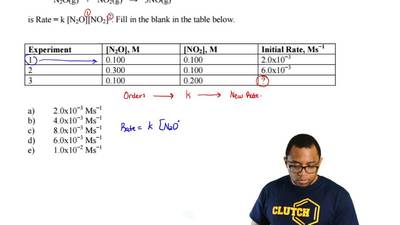 Based on your knowledge of rate law answer the following question.  ...