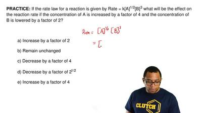 If the rate law for a reaction is given by Rate = k[A] 1/2[B]3 what will be th...