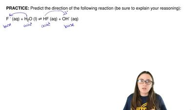 Predict the direction of the following reaction (be sure to explain your reaso...