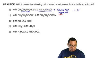 Which one of the following pairs, when mixed, do not form a buffered solution?...