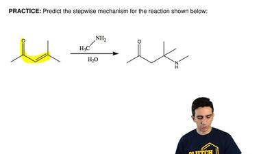 Predict the stepwise mechanism for the reaction shown below:     ...