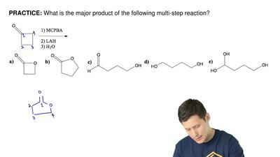 What is the major product of the following multi-step reaction? ...