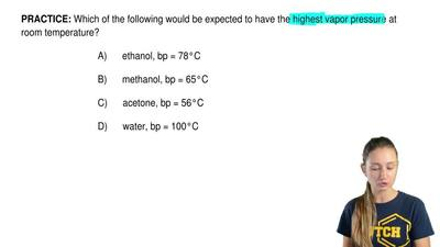 Which of the following would be expected to have the highest vapor pressure at...