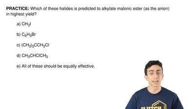 Which of these halides is predicted to alkylate malonic ester (as the anion) i...