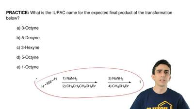 What is the IUPAC name for the expected final product of the transformation be...