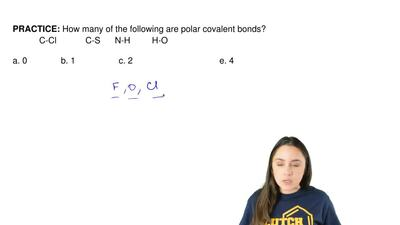 How many of the following are polar covalent bonds?            C-Cl           ...