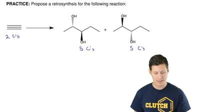 Propose a retrosynthesis for the following reaction: ...
