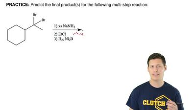 Predict the final product(s) for the following multi-step reaction: ...